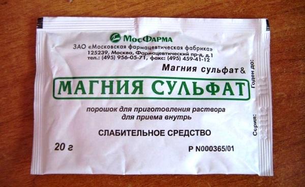 Магния сульфат для очищения кишечника