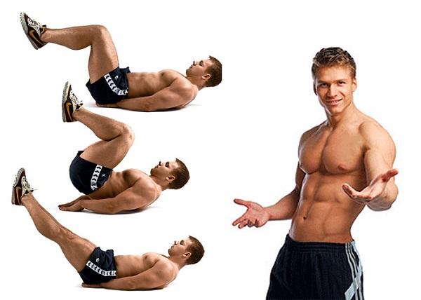 Упражнения для похудения живота у мужчин