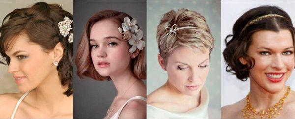 60 идей свадебной причёски на короткие волосы