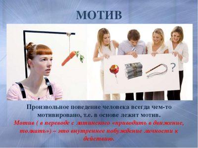 Мотивы поведения и деятельности — система мотивов