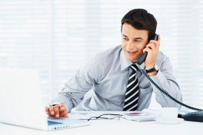Общение по телефону с клиентами