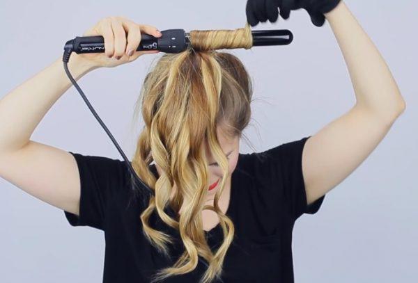 Завивка волос на конусную плойку в домашних условиях