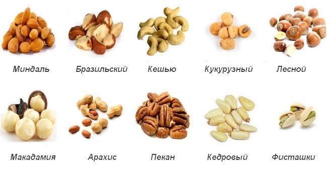 Какие орехи полезные при диете
