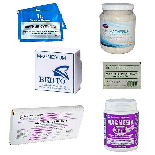 Применение магнезии как средства для похудения: формы выпуска и дозировки