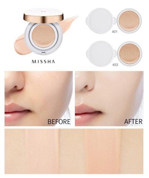 Кушоны для лица: невесомое покрытие и выравнивание тона кожи